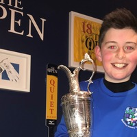 Golf-mad lad gets hands on Open trophy in after-school surprise