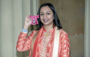 I still get mistaken for security says female engineer Roma Agrawal at MBE ceremony