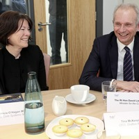 Confidence and supply deal will continue, David Lidington says during Belfast visit