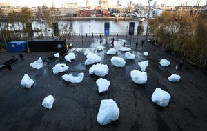 Melting ice art installation aims to show reality of climate change