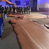 Factory mishap paves street with chocolate in Germany