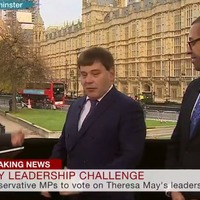 Things got awkward when two opposing Tory MPs met on air to discuss Theresa May