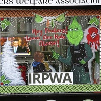 Not so festive window display appears at republican prisoners offices