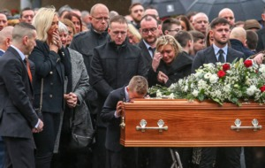Jim Donegan funeral hears call for 'no retaliation'