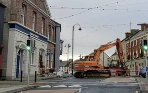 Robbers use digger to steal cash machine from bank in Co Monaghan