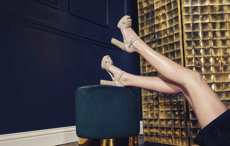 7117f20db7b35 Dune Mallin Gold Cross Strap Platform Sandals, £80, available from Dune