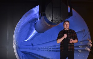 Test drivers try out Elon Musk's traffic-busting LA subterranean tube