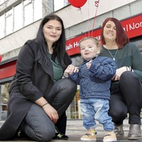 Transplant list toddler helps reopen Belfast charity shop closed by Primark fire