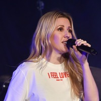Ellie Goulding blazes in burgundy at star-studded Streets of London concert