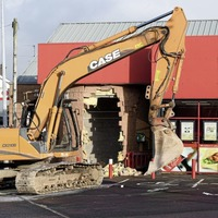 Digger used to steal ATM from shop