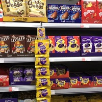 Easter eggs on display in supermarkets two days after Christmas