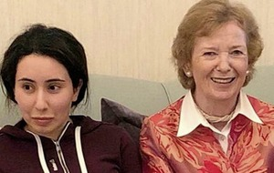 Mary Robinson faces criticism over comments about Emirati princess