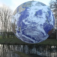 Earth artwork lets visitors enjoy astronauts' view from space