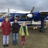 These children have to travel by plane to get to their swimming lessons