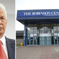 DUP silent as petition urges removal of Peter Robinson's name from leisure centre
