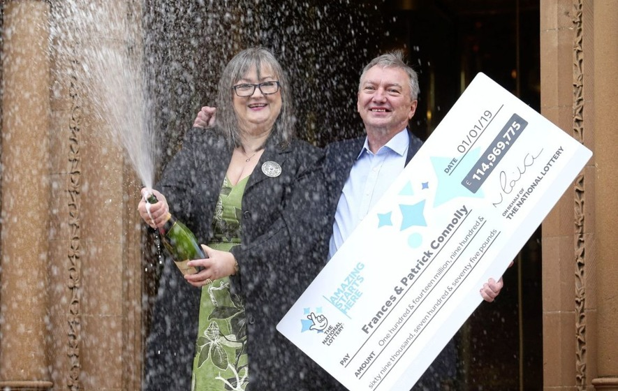 Frances and Patrick Connolly from Moira revealed as £115m Euromillions lottery winners