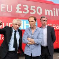 Benedict Cumberbatch's alter-ego unveils Brexit battle bus in TV drama