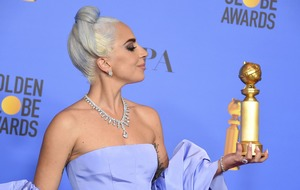 Lady Gaga pays tribute to Bradley Cooper as she picks up best song Golden Globe