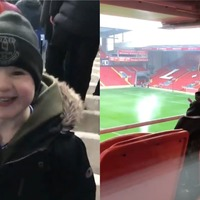 Watch: Boy reacts with pure joy when he sees his team's stadium for first time