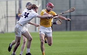 James McNaughton hat-trick sees Antrim beat Kildare and reach Kehoe Cup final