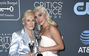 Tearful Lady Gaga shares best actress award with Glenn Close