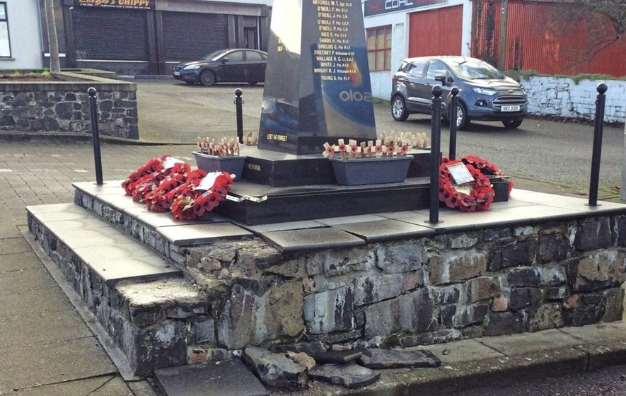 Damage to Co Tyrone war memorial 'accidental'