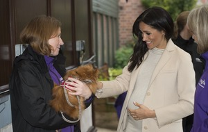 Pregnant duchess laughs after being called 'a fat lady' during charity visit