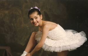 Throwback snap shows Cheryl in white tutu ahead of first ballet competition
