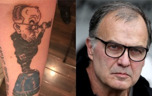 Leeds fan's 'spygate' Marcelo Bielsa tattoo helps him deal with depression