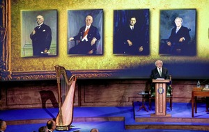 President Michael D Higgins commemorates centenary of first sitting of Dáil Éireann