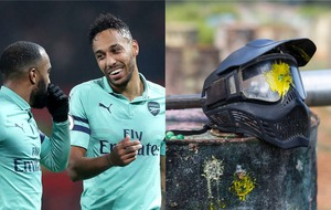 Football fans pick their favourite close-ups from Arsenal paintball picture