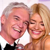 Holly Willoughby and Phillip Schofield arrive on set on motorbikes after NTA win