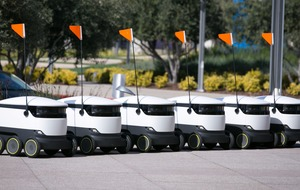 Robots are delivering pizza and doughnuts to students at an American university