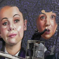 Derry Girls immortalised in paint for giant city centre mural