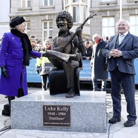 Two statues of Dubliners legend Luke Kelly unveiled on 35th anniversary of singer's death