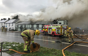 Police close Upper Newtownards Road as firefighters deal with pub fire