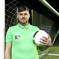 Star of the County Down: Goalkeeper Shane Harrison hoping to net Irish Cup run with north Belfast side