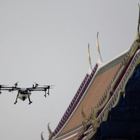 Drones spray water in bid to reduce air pollution around Bangkok