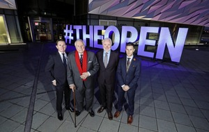Famous figures from sporting world officially kick off build-up to this year's Open Championship