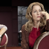 Gillian Anderson and Lily James in first images from set of All About Eve