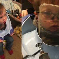 Firefighter called into action as son gets stuck in toilet seat