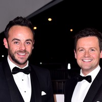 Ant and Dec mock Amanda Holden with shower pose photo