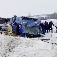 Four children among dead in Russian bus crash
