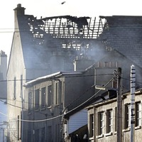 Asbestos warning follows major fire in Buncrana town centre