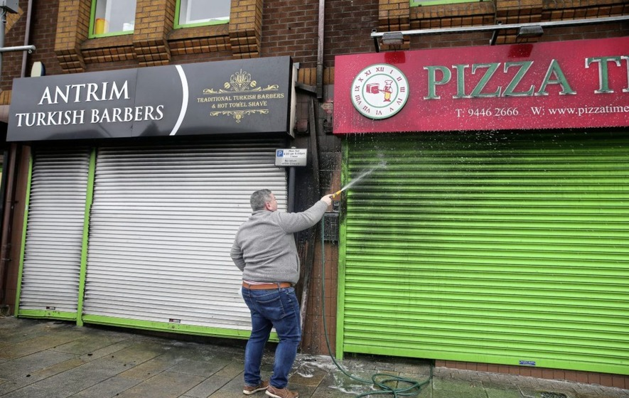 Fire At Turkish Barber Shop In Antrim Treated As Suspected