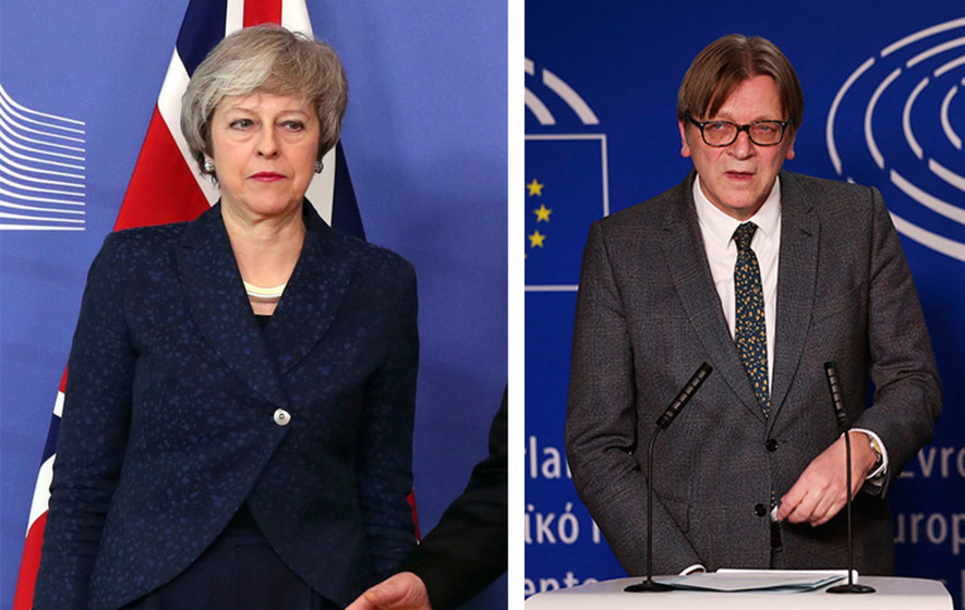 1b8c3f3a0654 Guy Verhofstadt said Theresa May confirmed a backstop would be part of the  Brexit deal