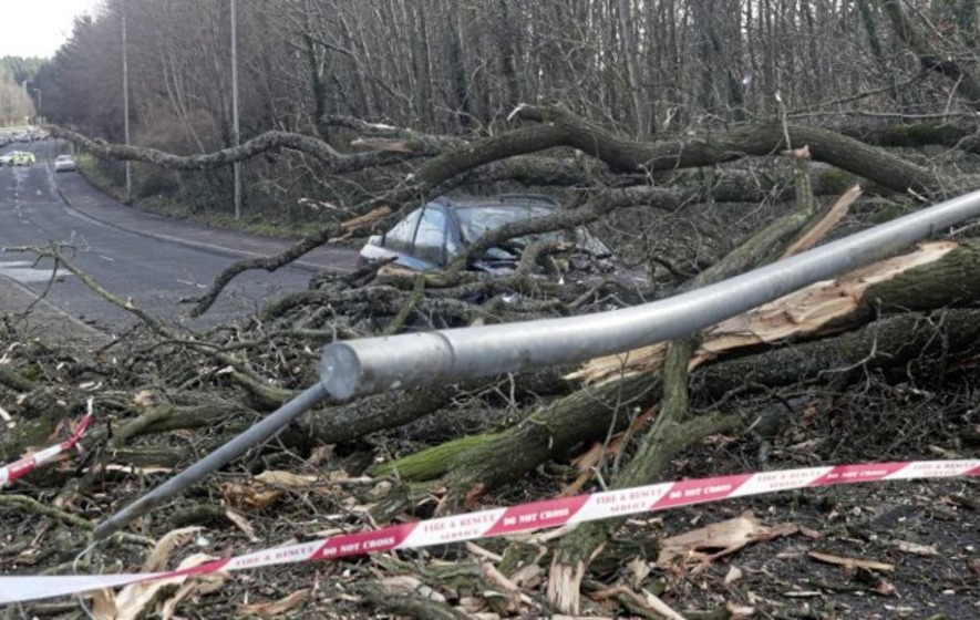 Storm Erik saw winds of 50-60mph yesterday