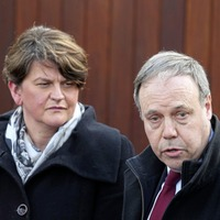 DUP seek to quell border poll talk amid warnings on both sides of Irish Sea over no deal