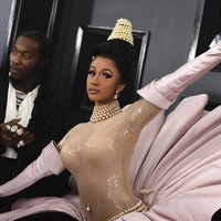 Cardi B leads the Grammys red carpet in outlandish oyster-inspired outfit