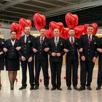 British Airways staffs flight with couples to mark Valentine's Day